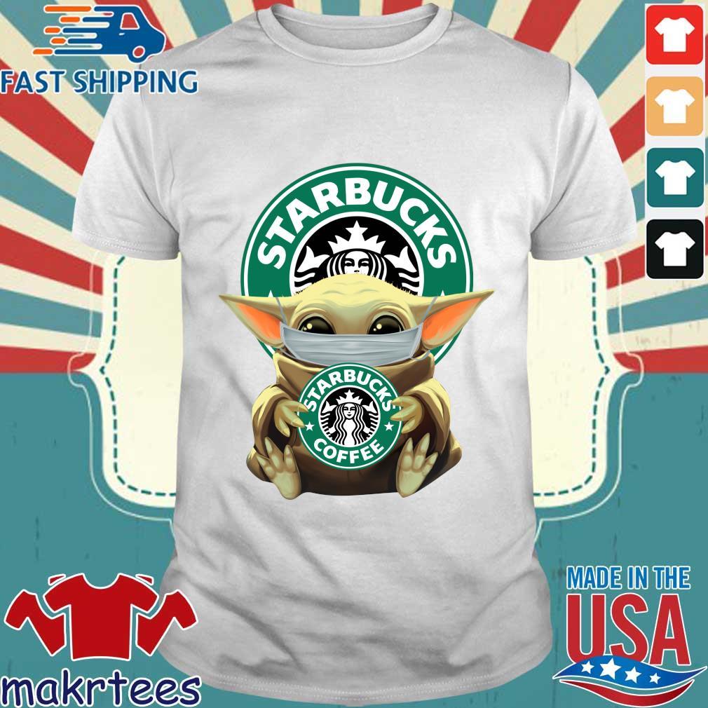 Baby Yoda Face Mask Hug Starbucks Coffee Shirt