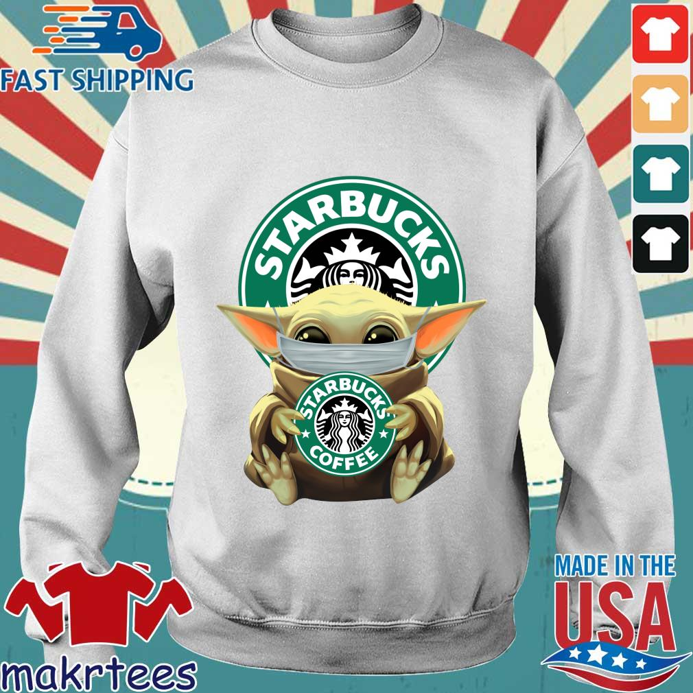 Baby Yoda Face Mask Hug Starbucks Coffee Shirt Sweater trang