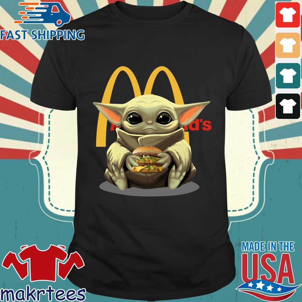 Baby Yoda Hug Hamburger Mcdonald_s Shirt