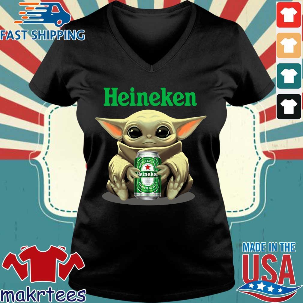 Baby Yoda Hug Heinehen Shirt Ladies V-neck den