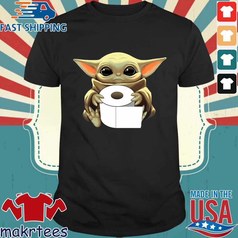 Baby Yoda Hug Toilet Paper Coronavirus Tee Shirt