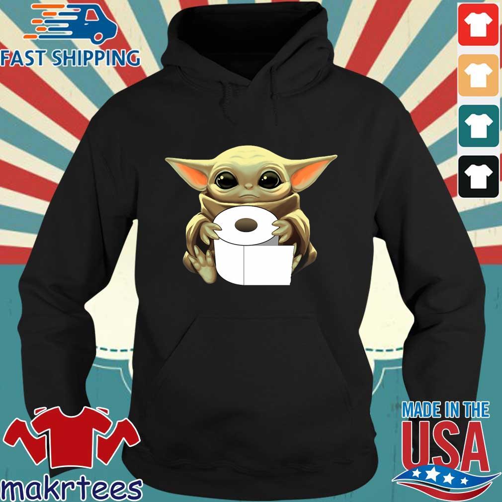 Baby Yoda Hug Toilet Paper Coronavirus Tee Shirts Hoodie den