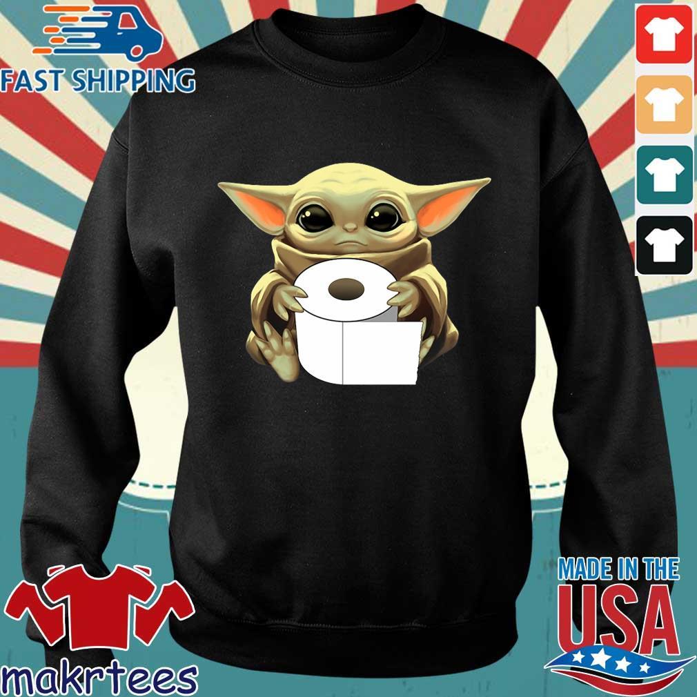 Baby Yoda Hug Toilet Paper Coronavirus Tee Shirts Sweater den