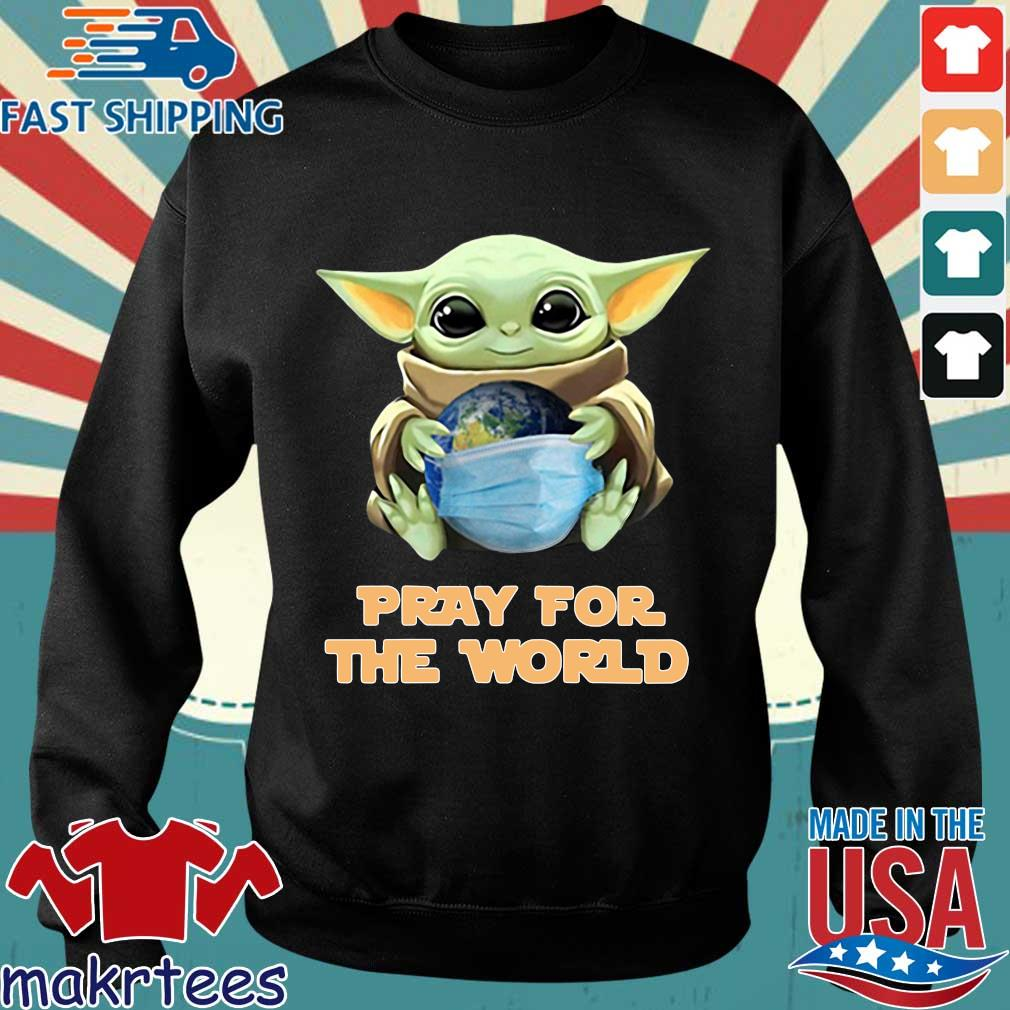 Baby Yoda Hugs Earth Pray For The World Coronavirus Shirt Sweater den