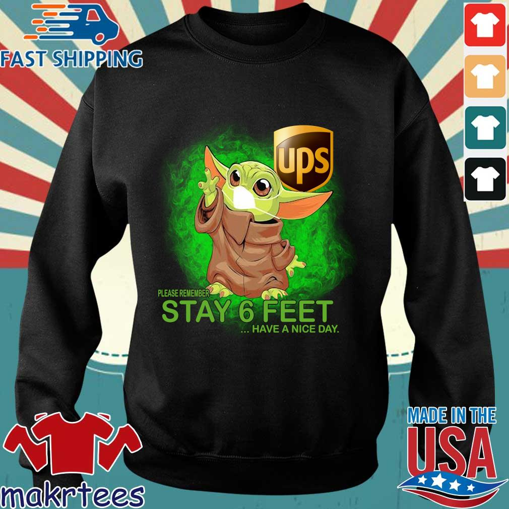 Baby Yoda Mask Hug Ups Please Remember Stay 6 Feet Have A Nice Day Shirt Sweater den