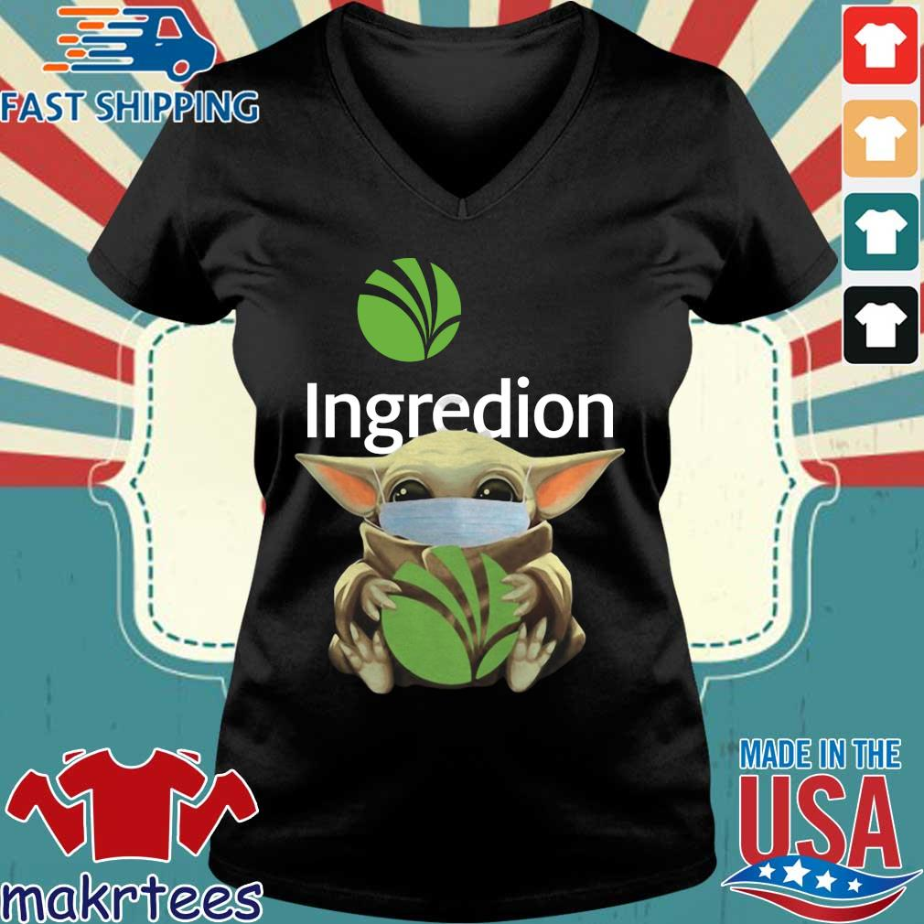 Baby Yoda Mask Ingredion Incorporated Shirt Ladies V-neck den