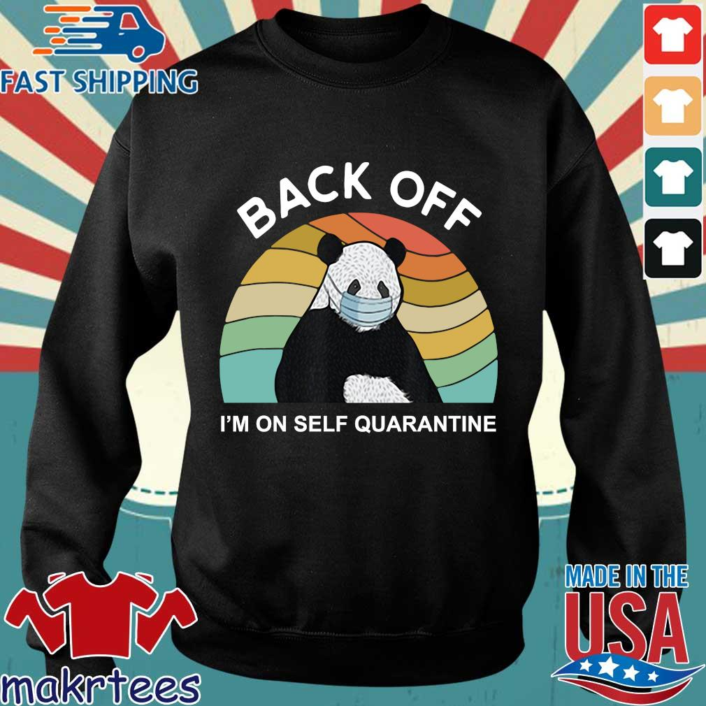 Back Off I'm On Self Quarantine Vintage Panda Shirt Sweater den