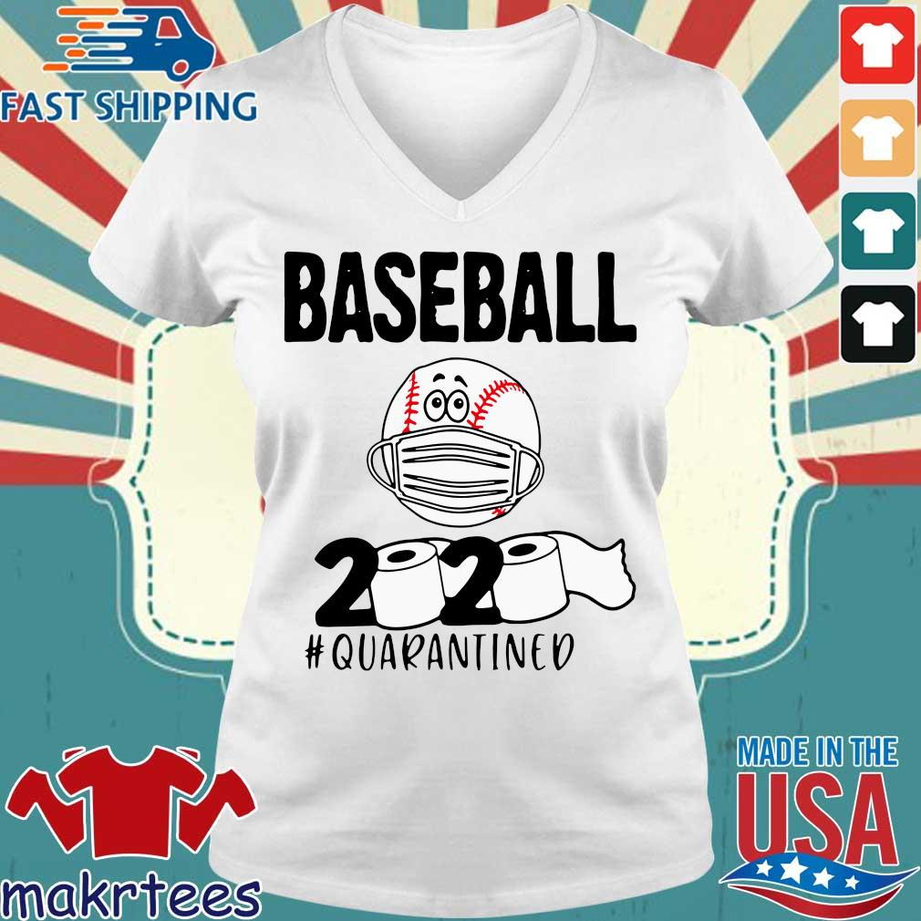 Baseball 2020 #quarantined Tee Shirts Ladies V-neck trang