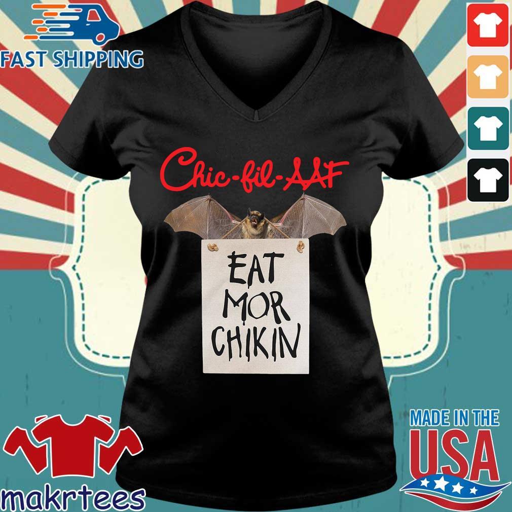 Bat Chick Fil A At Eat Mor Chikin Shirt Ladies V-neck den