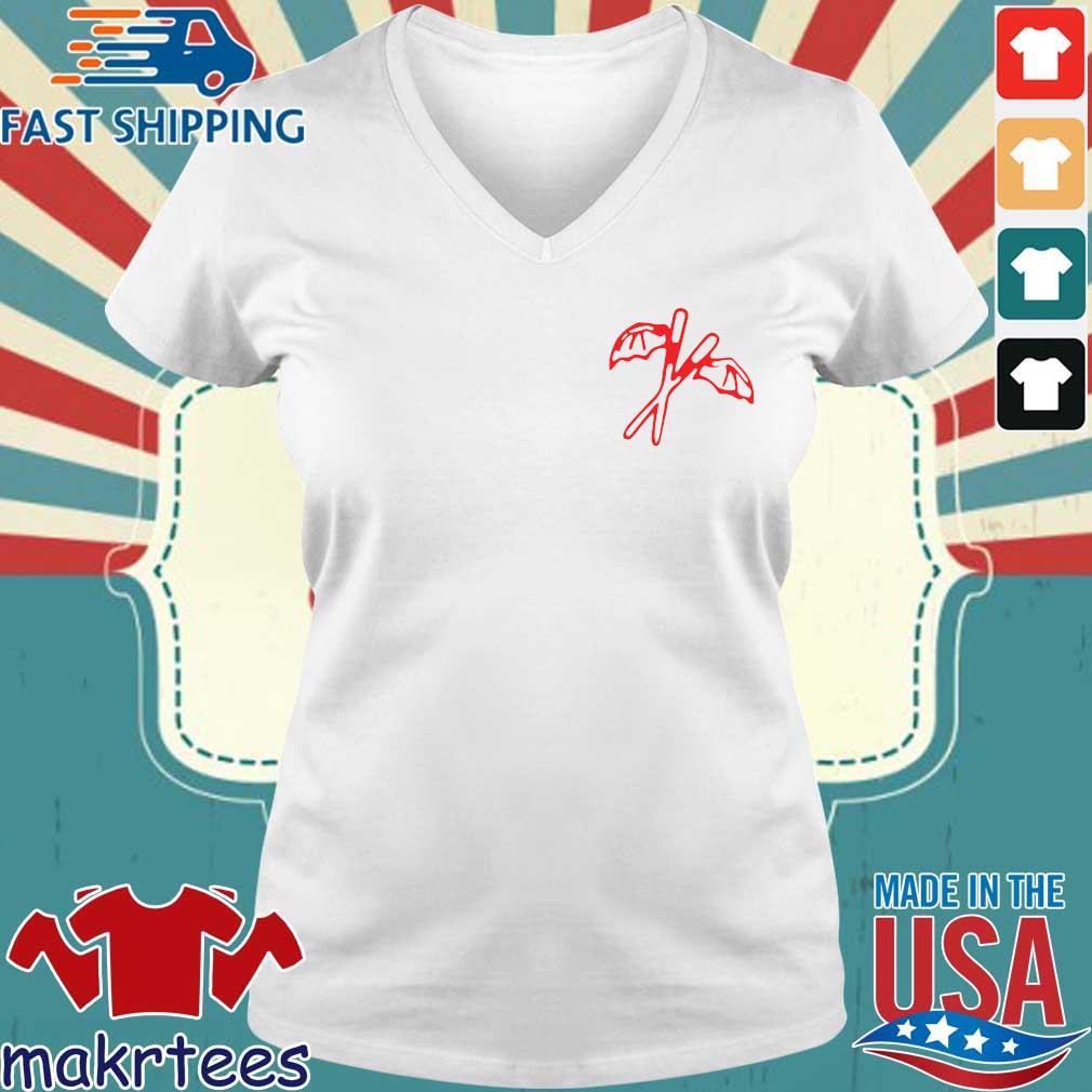 Bat Fried Rice Shirt Ladies V-neck trang