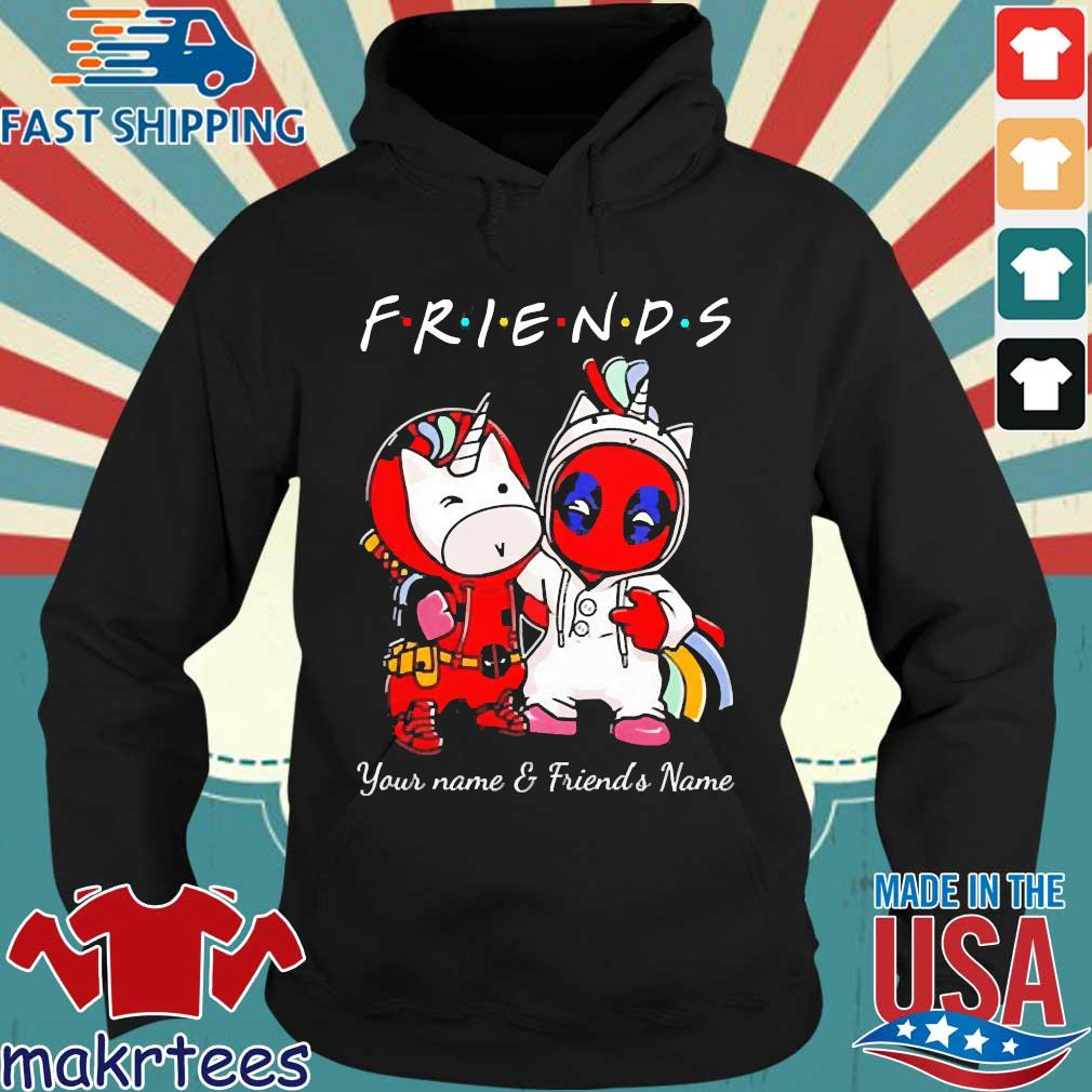 Best Friends Deadpool And Unicorn Your Name And Friends Name Shirt Hoodie den