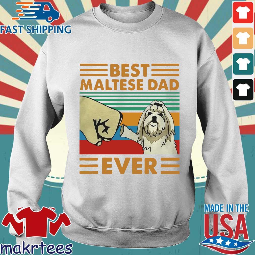 Best Maltese Dad Ever Vintage Shirt Sweater trang