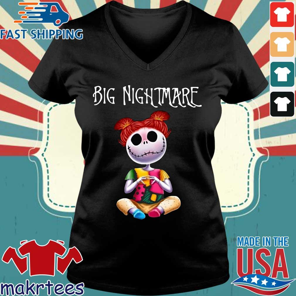 Big Nightmare Shirts Ladies V-neck den