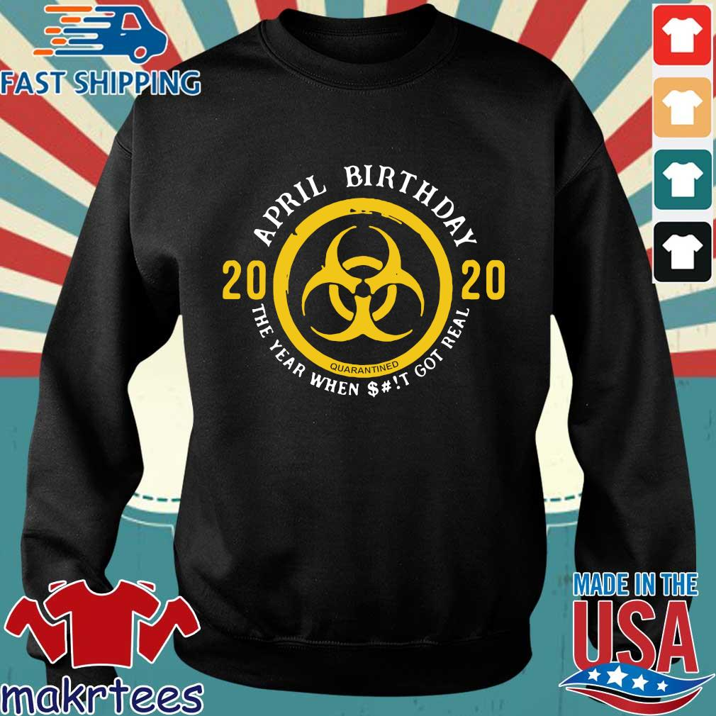 Biohazard April Birthday 2020 Yellow Sign The Year When Shit Got Real Shirt Sweater den