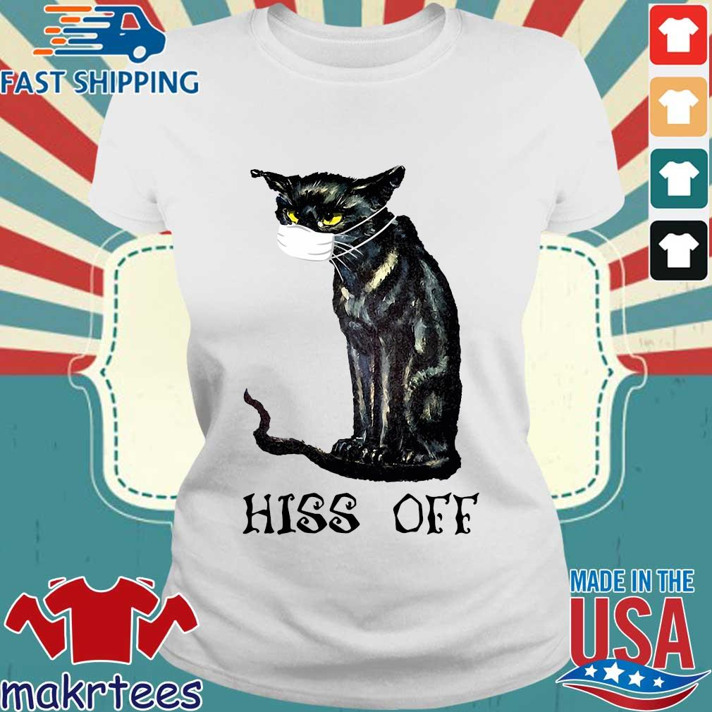 Black Cat Covid Hiss Off Classic T-s Ladies trang