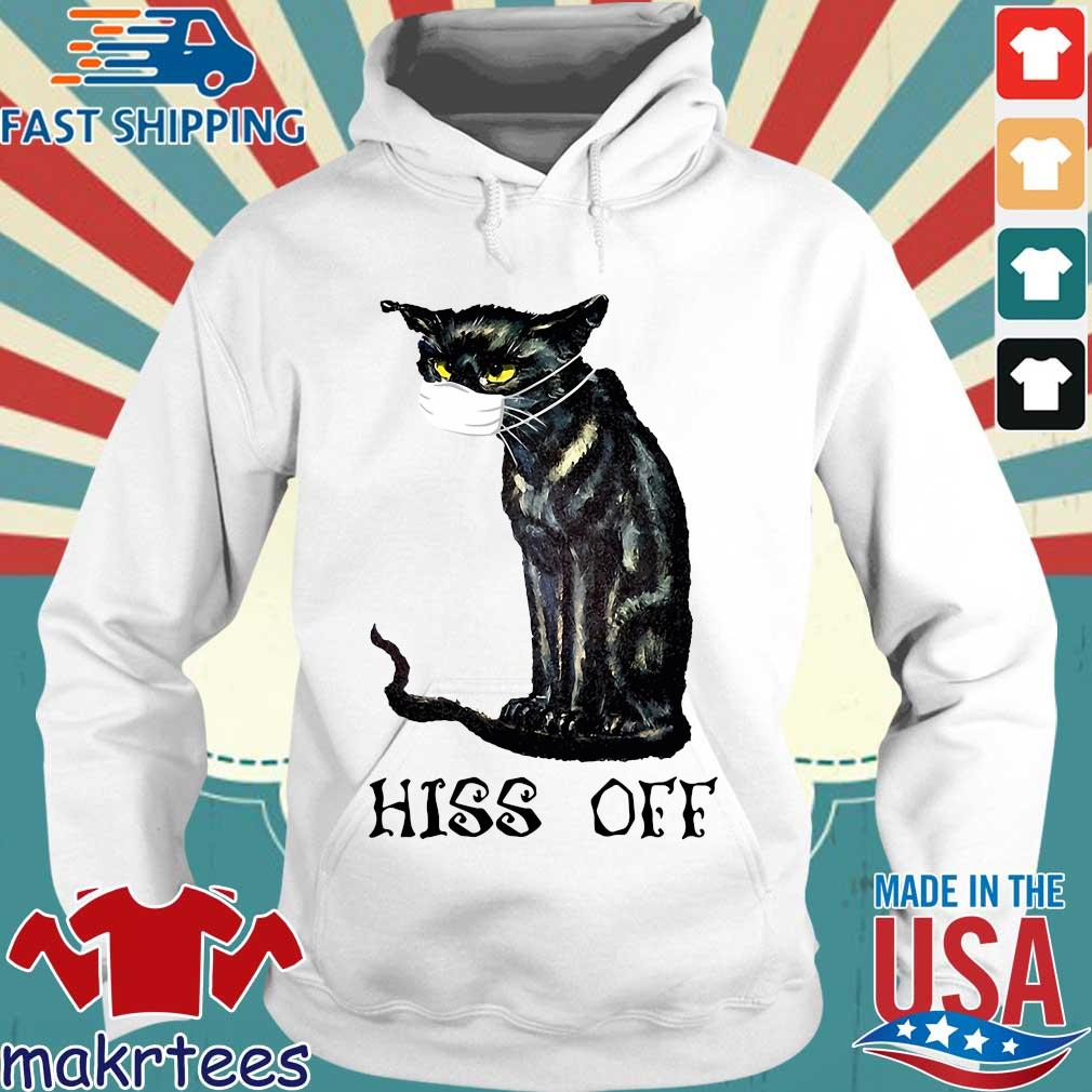 Black Cat Covid Hiss Off Crewneck Shirt Hoodie trang