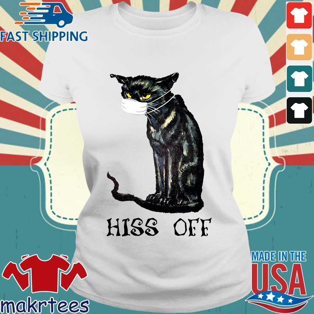 Black Cat Covid Hiss Off Crewneck Shirt Ladies trang