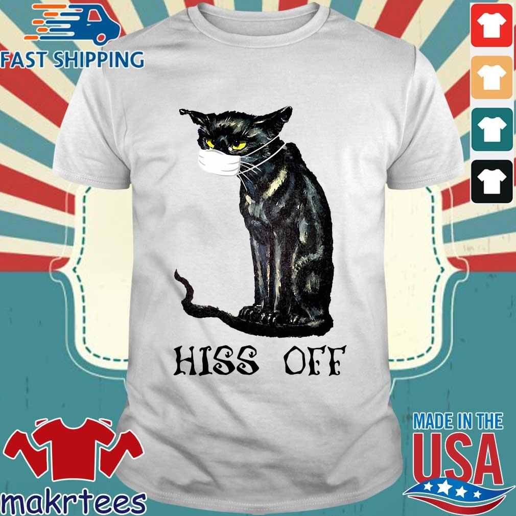 Black Cat Covid Hiss Off Crewneck Shirt