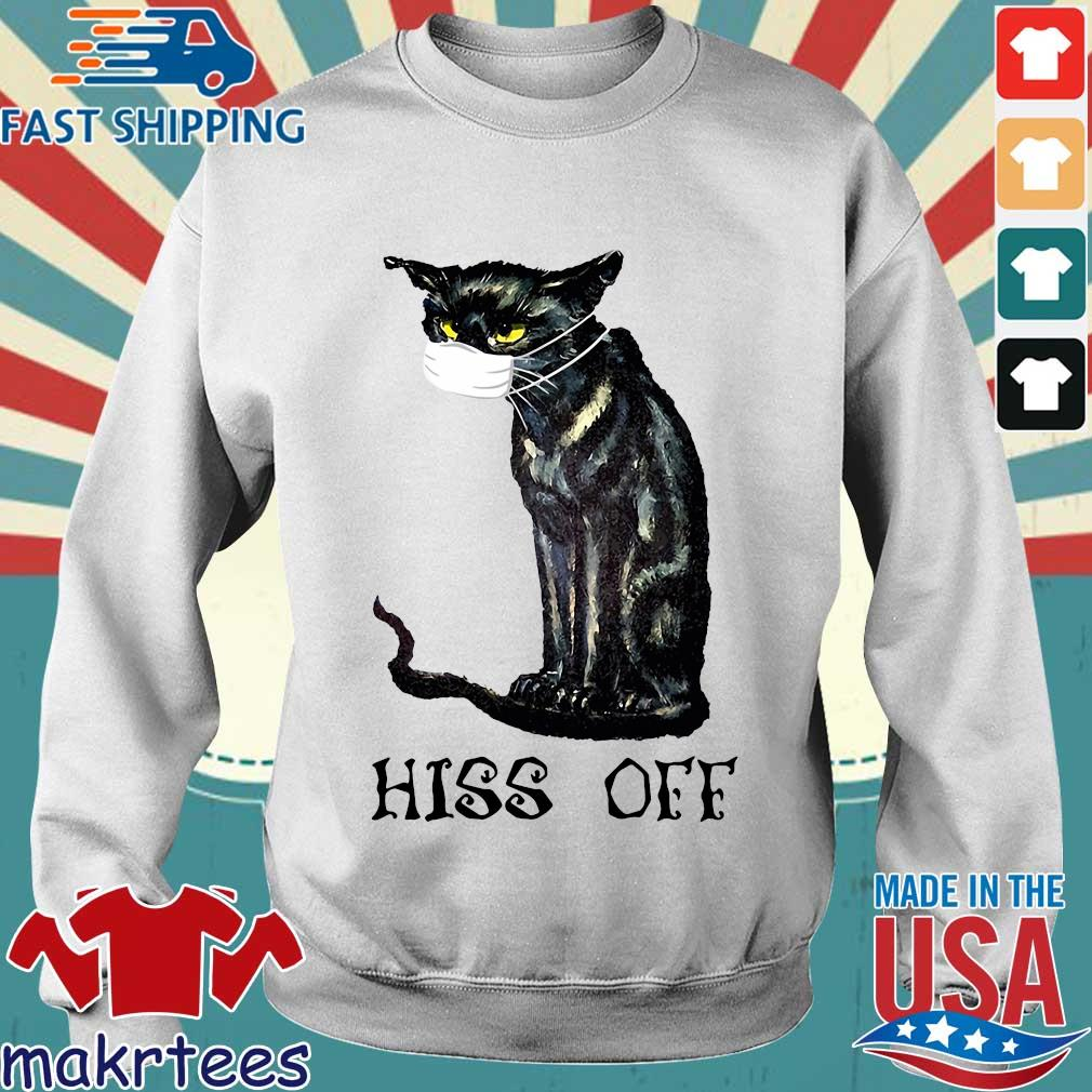 Black Cat Covid Hiss Off Crewneck Shirt Sweater trang