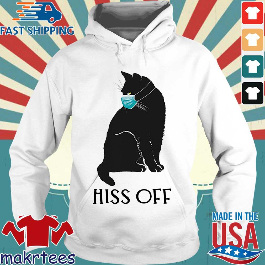 Black Cat Covid Hiss Off For Shirt Hoodie trang
