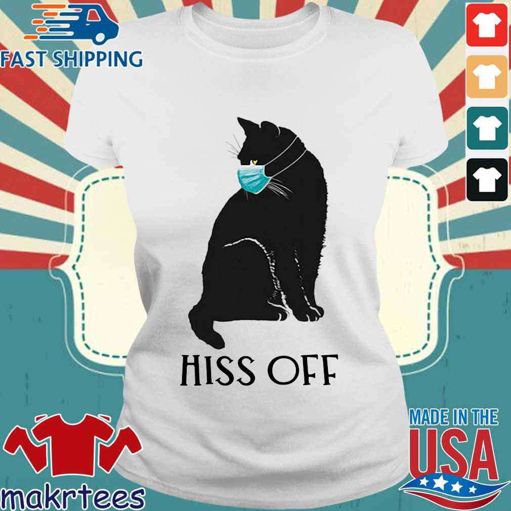 Black Cat Covid Hiss Off For Shirt Ladies trang