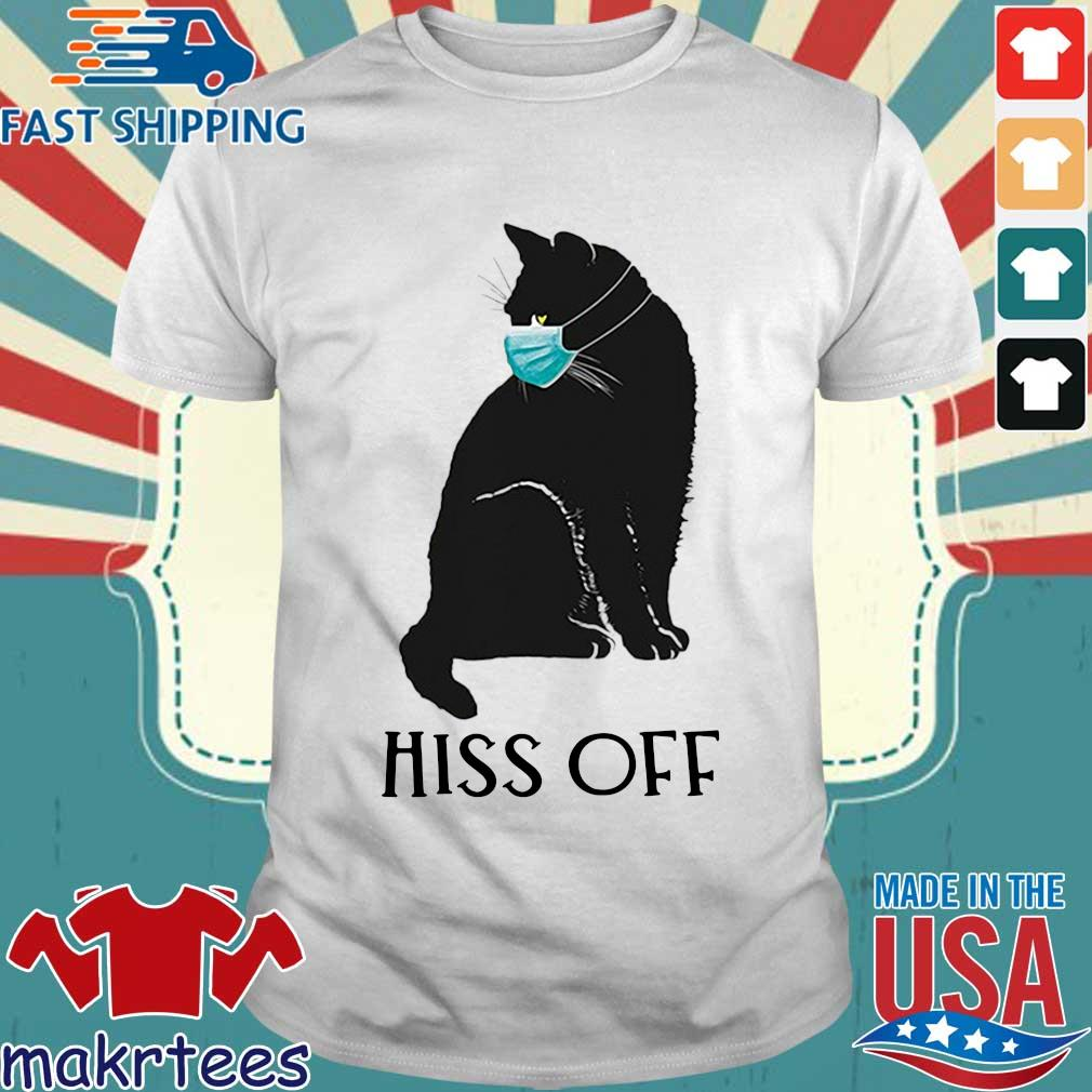 Black Cat Covid Hiss Off For Shirt