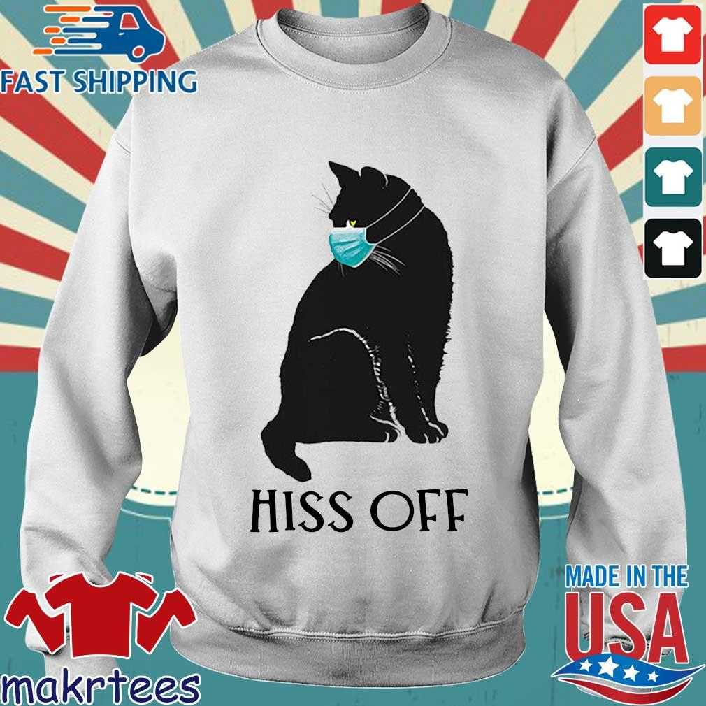 Black Cat Covid Hiss Off For Shirt Sweater trang