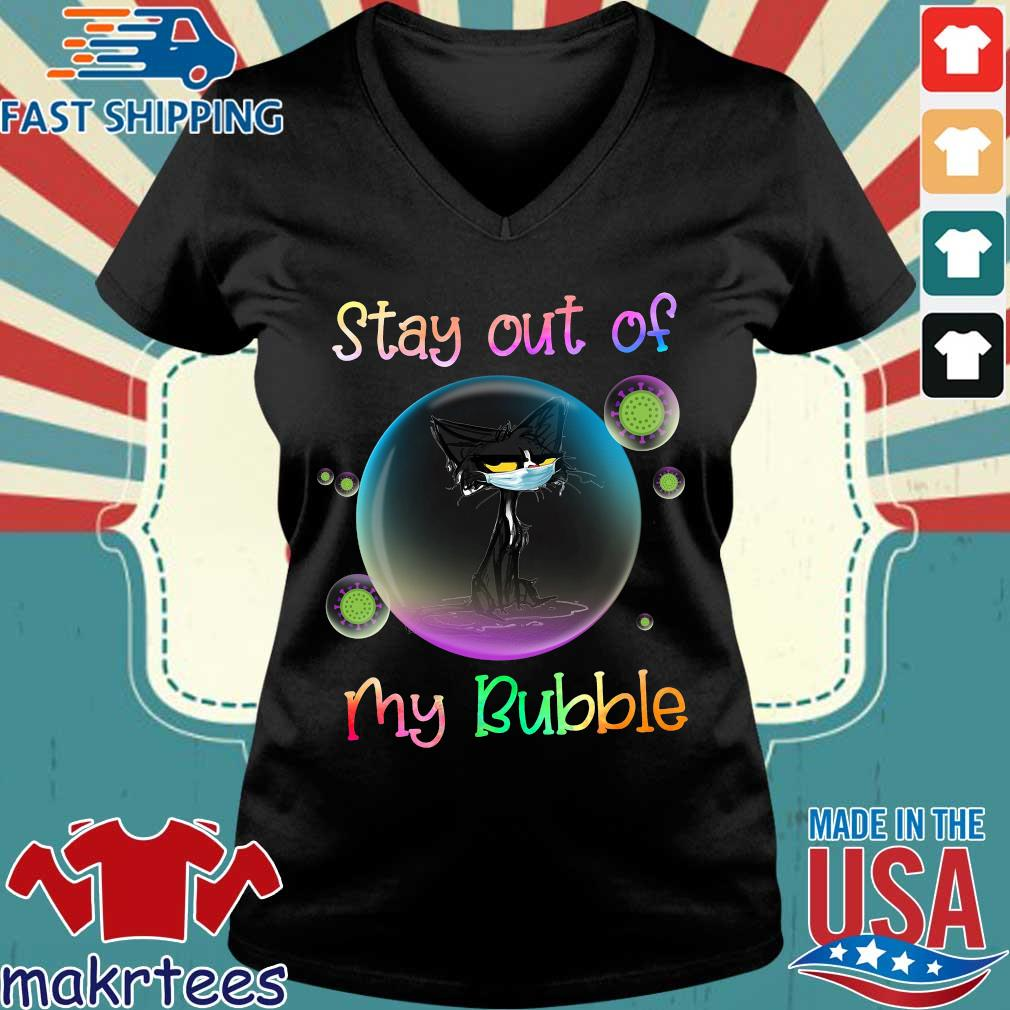 Black Cat Stay Out Of My Bubble Shirt Ladies V-neck den