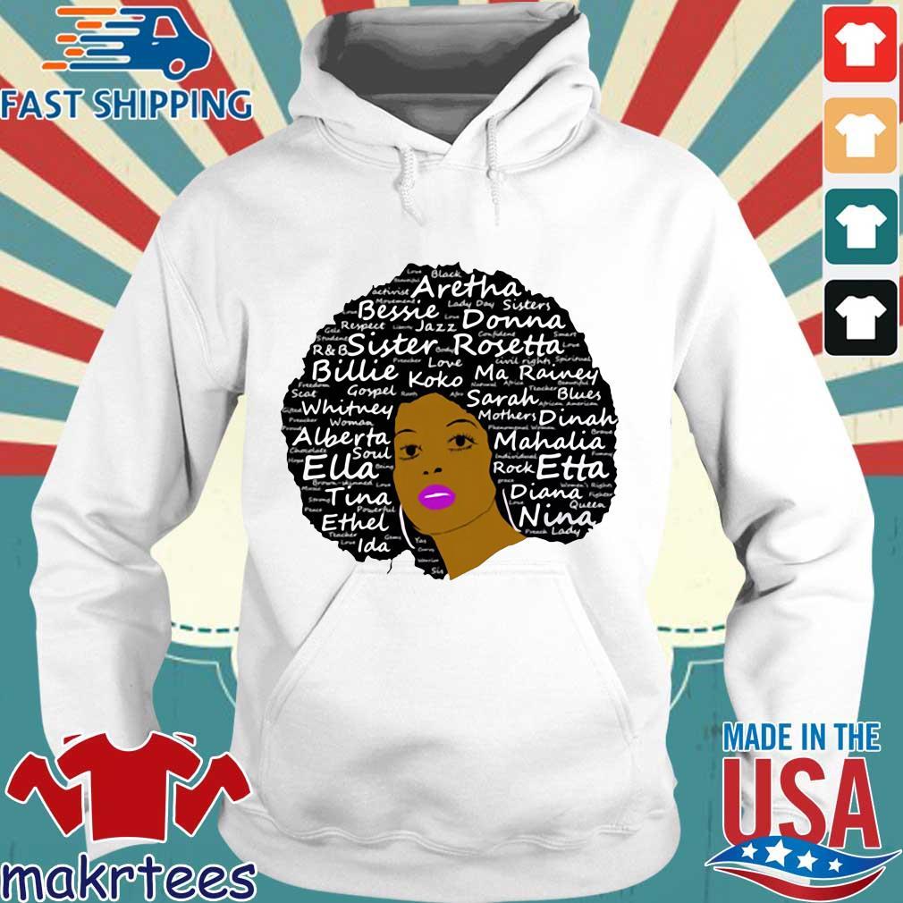 Black History Month Powerful Singers Natural Hair Shirt Hoodie trang