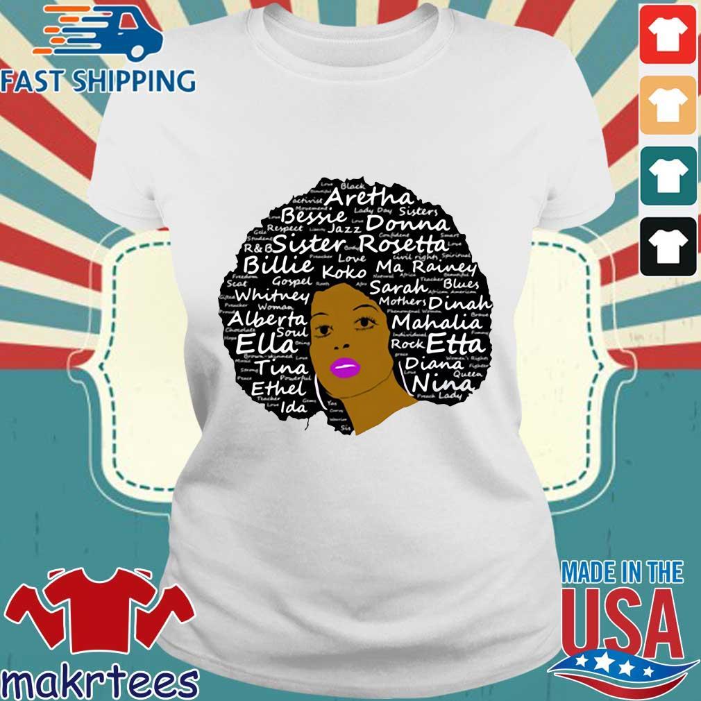 Black History Month Powerful Singers Natural Hair Shirt Ladies trang