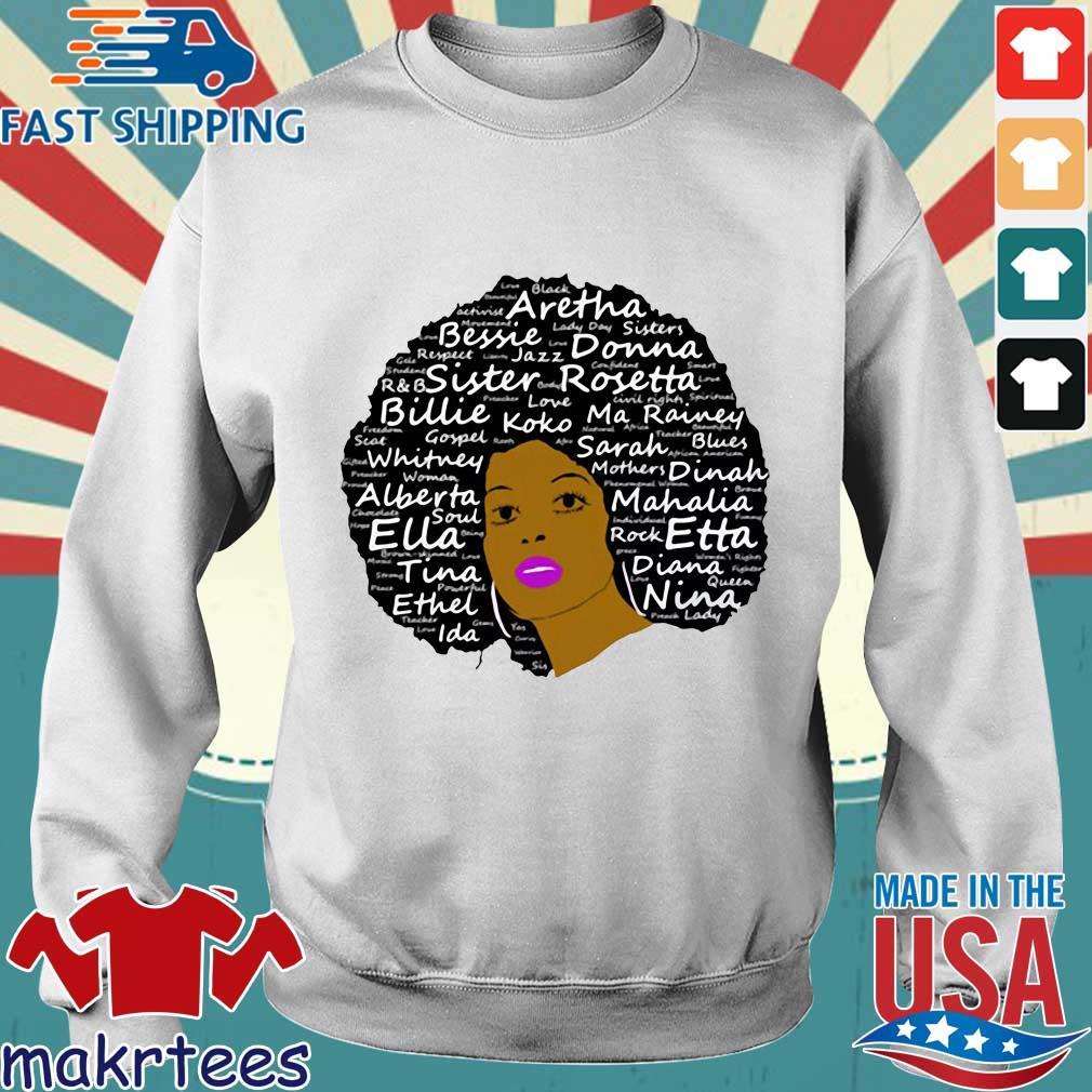 Black History Month Powerful Singers Natural Hair Shirt Sweater trang