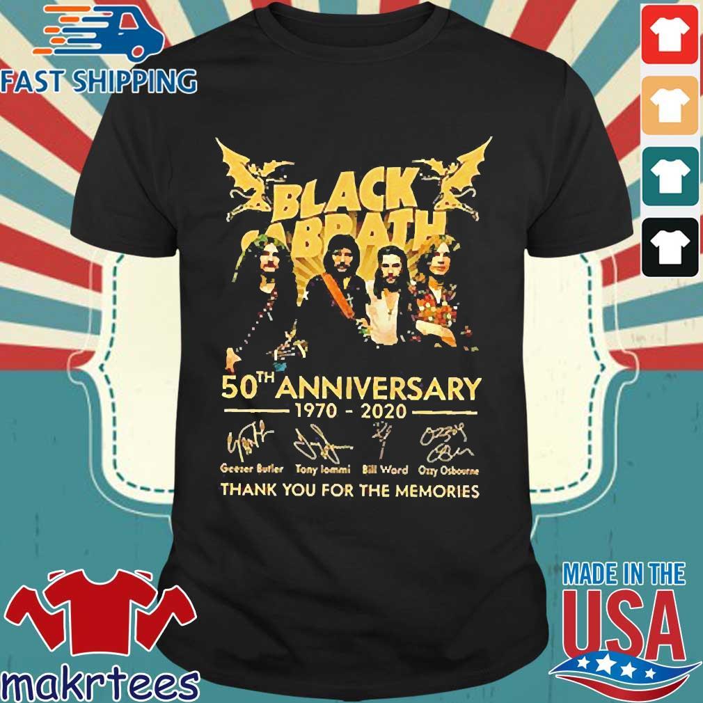 Black Sabbath 50th Anniversary 1970-2020 Signatures Shirt