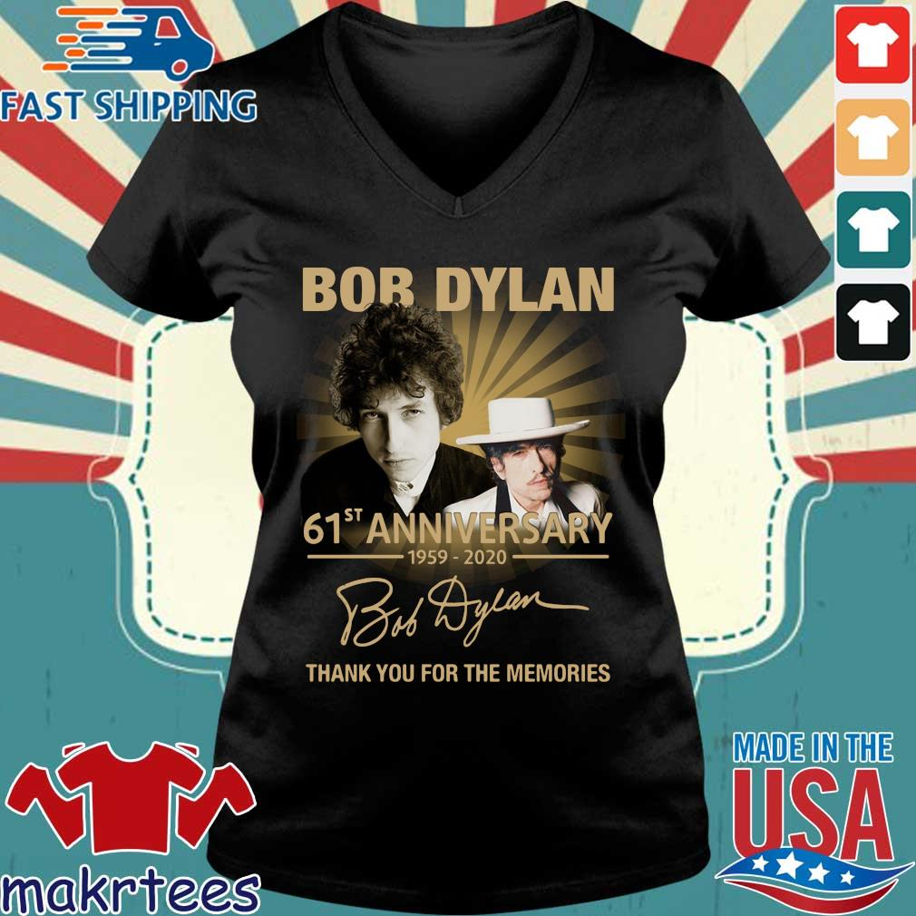 Bob Dylan 61st Anniversary 1959-2020 Thank You For The Memories Shirt Ladies V-neck den