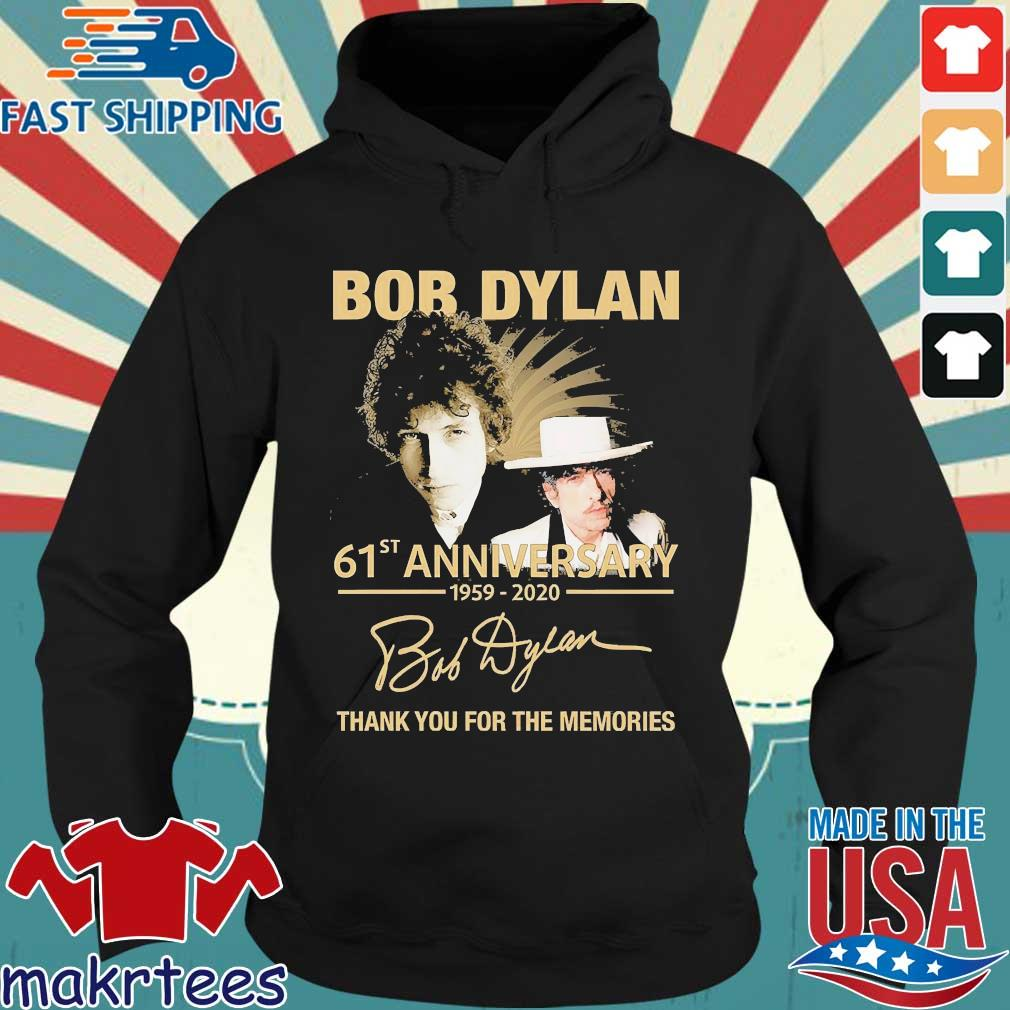 Bob Dylan 61th Anniversary 1959 2020 Signature Thank You For The Memories Shirt Hoodie den