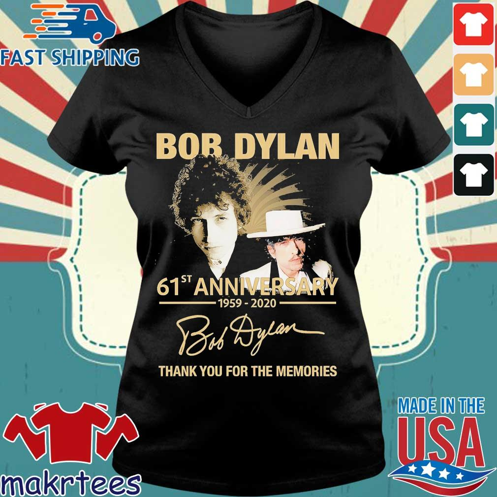 Bob Dylan 61th Anniversary 1959 2020 Signature Thank You For The Memories Shirt Ladies V-neck den