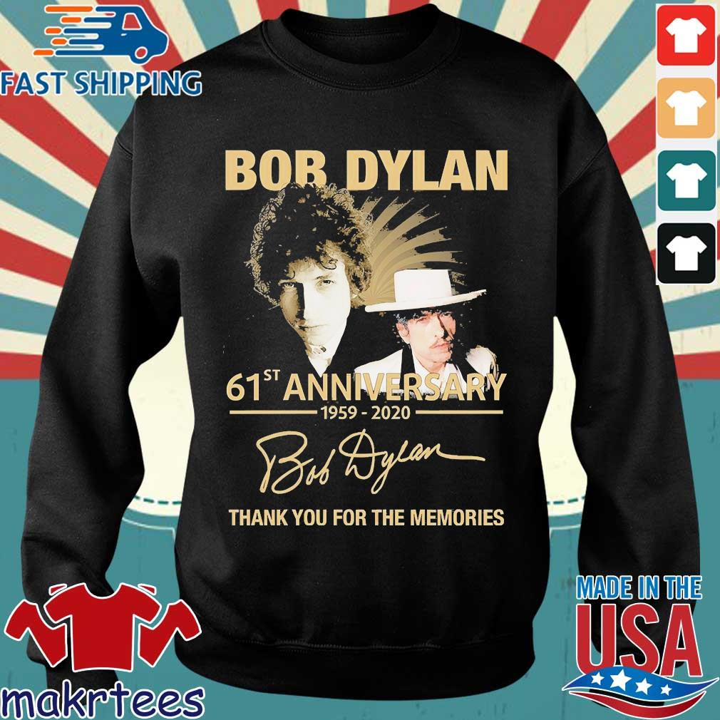 Bob Dylan 61th Anniversary 1959 2020 Signature Thank You For The Memories Shirt Sweater den