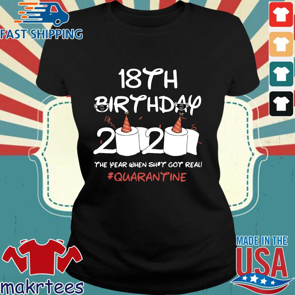 Born In 2002 Birthday Gift 18th Birthday 2020 The Year When Shit Got Real Quarantined Shirts Ladies den