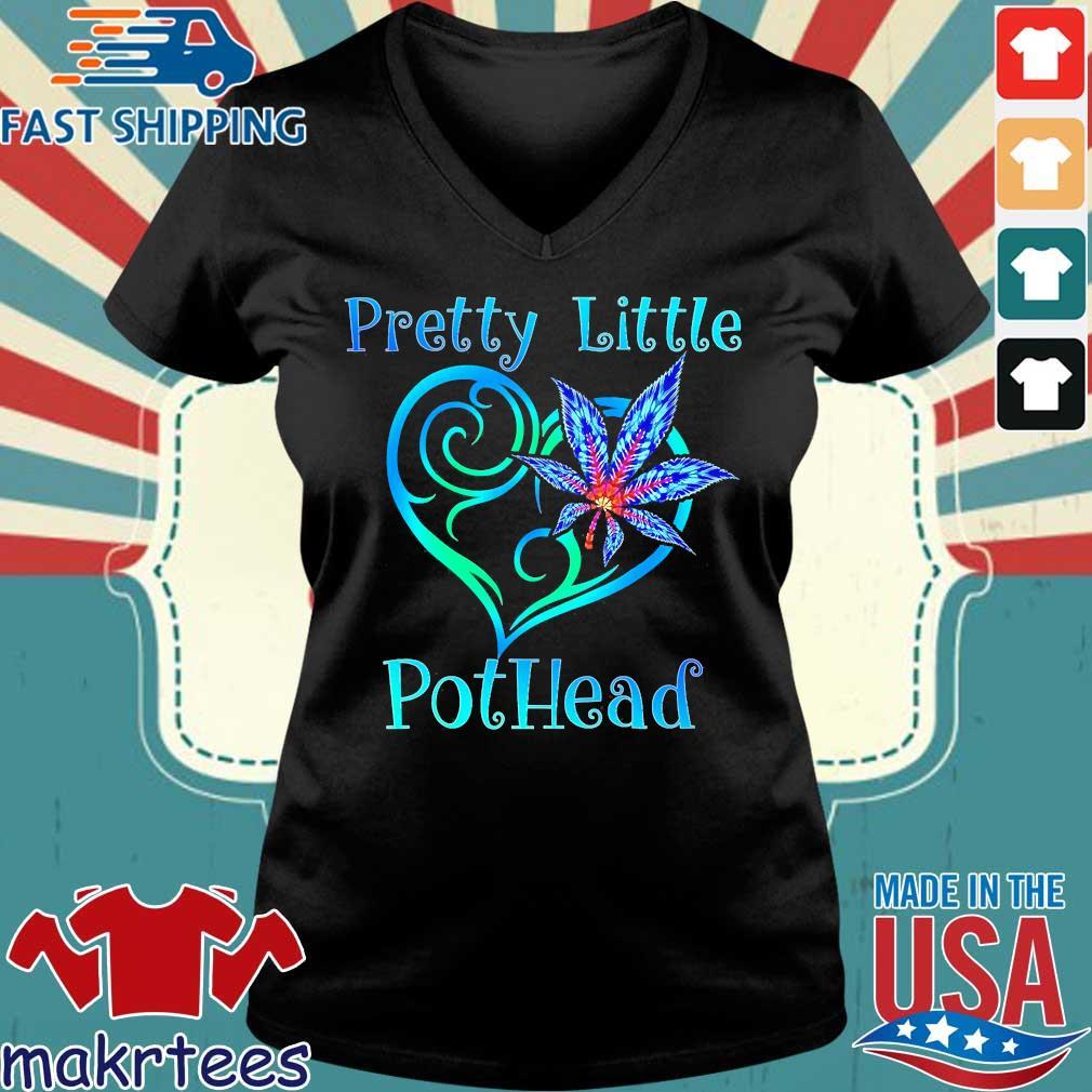Cannabis Pretty Little Pothead Shirt Ladies V-neck den