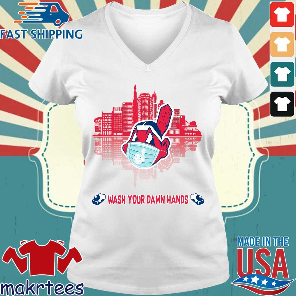 Chicago Cubs Wash Your Damn Hands Covid 19 City Shirt Ladies V-neck trang