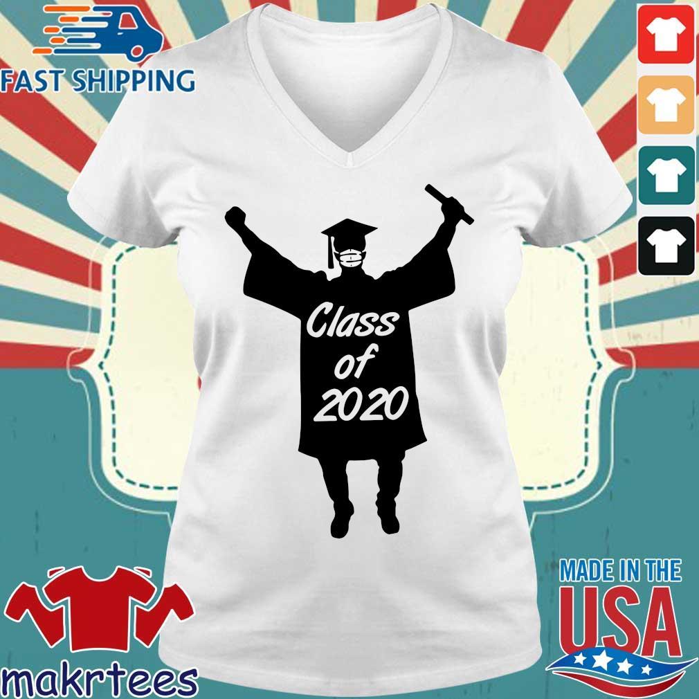 Class Of 2020 Graduation Mask Shirt Ladies V-neck trang