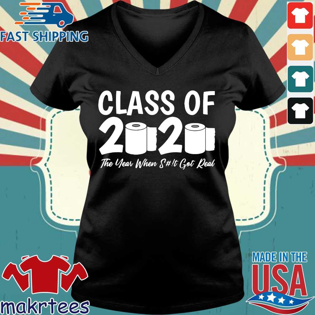 Class Of 2020 Graduation Senior Virus Flu Toilet Paper T-Shirts Ladies V-neck den