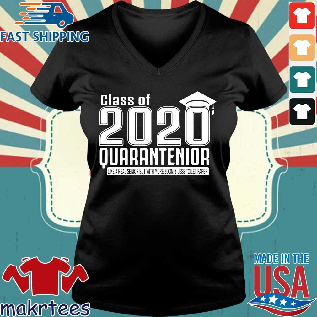 Class Of 2020 Quarantenior Graduate Shirt Ladies V-neck den