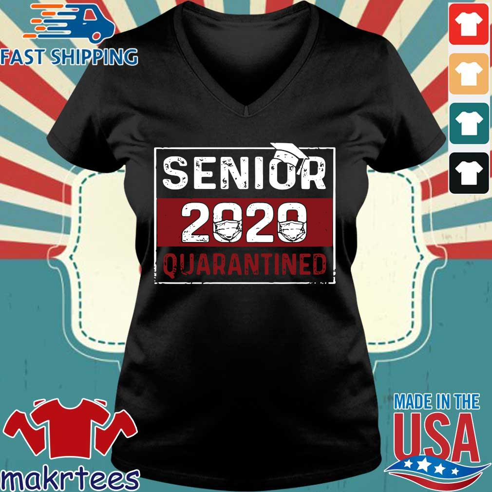 Class Of 2020 Quarantine Senior 2020 Quarantined Shirts Ladies V-neck den
