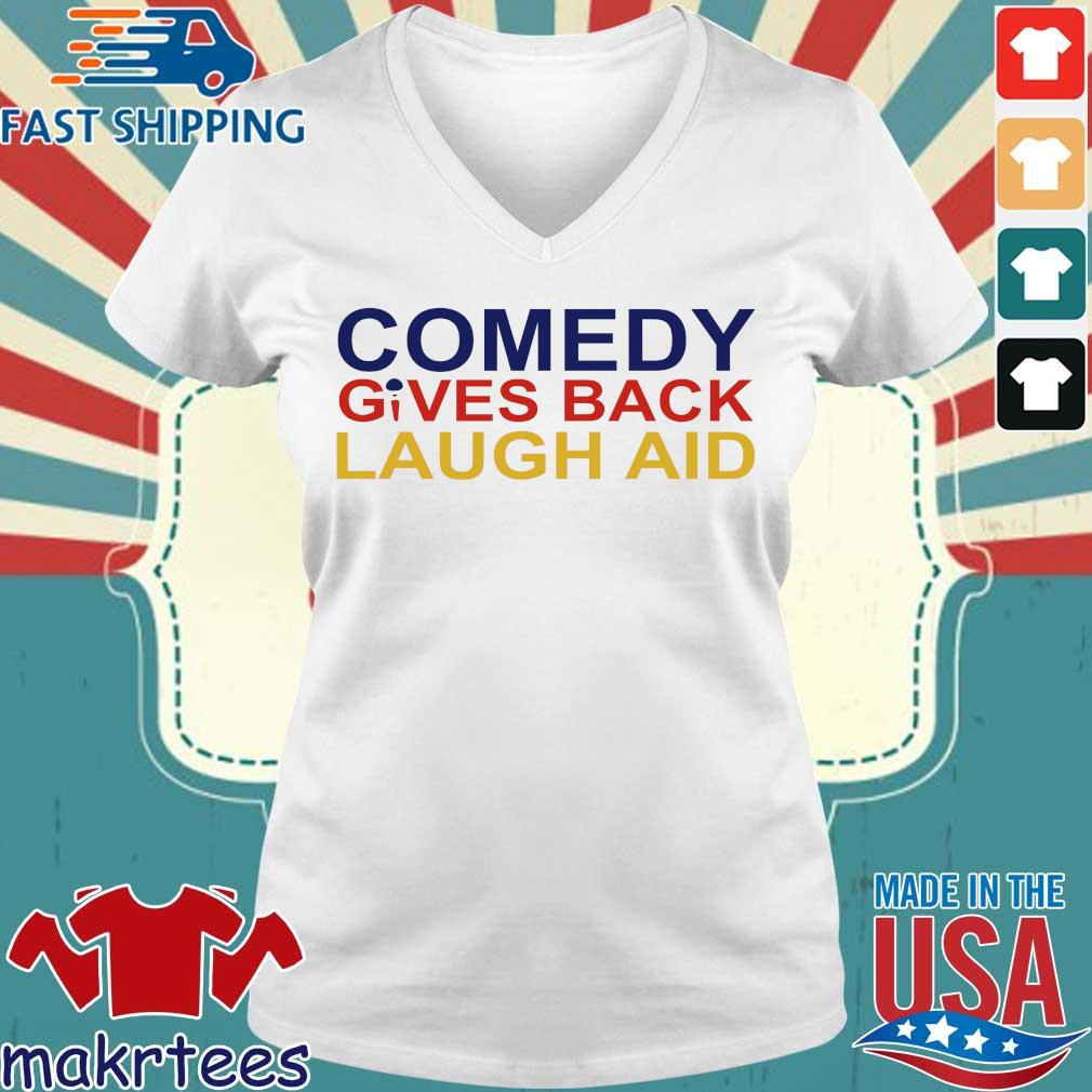 Comedy Gives Back Laugh Aid 2020 T-s Ladies V-neck trang