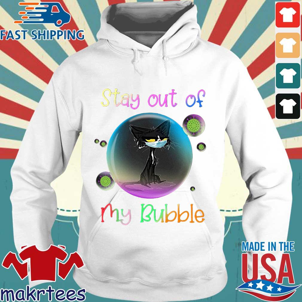 Cool Stay Out Of My Bubble Black Cat Shirt Hoodie trang