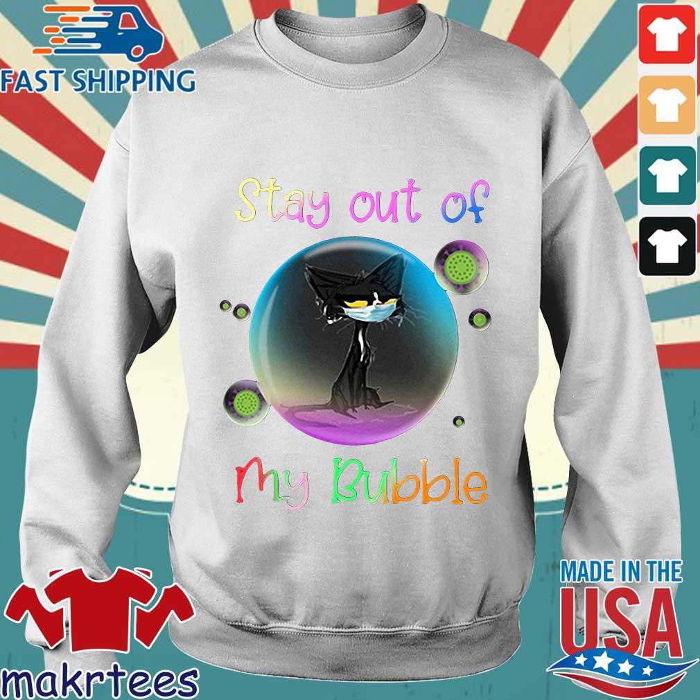 Cool Stay Out Of My Bubble Black Cat Shirt Sweater trang