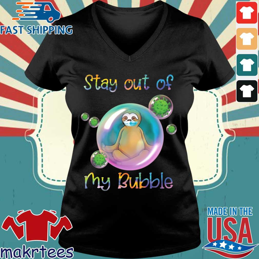 Corona Sloth Stay Out Of My Bubble Shirt Ladies V-neck den