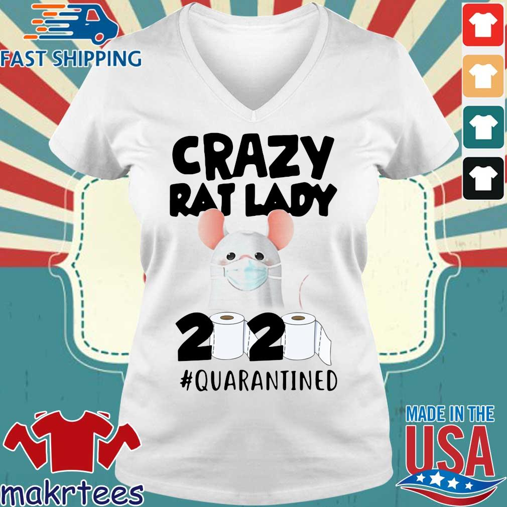 Crazy Rat Lady 2020 Quarantined Shirt Ladies V-neck trang