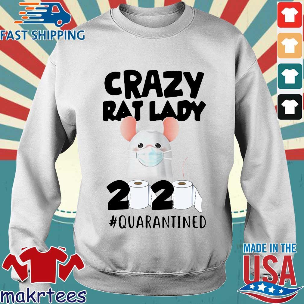 Crazy Rat Lady 2020 Quarantined Shirt Sweater trang