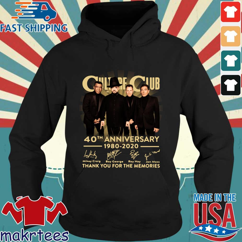 Culture Club 40th Anniversary 1980 2020 Thank You For The Memories Shirt Hoodie den